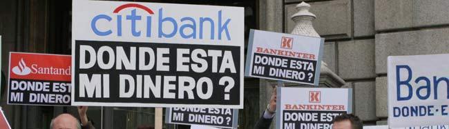 En la imagen, una de las manifestaciones organizadas en noviembre, por un grupo de afectados
