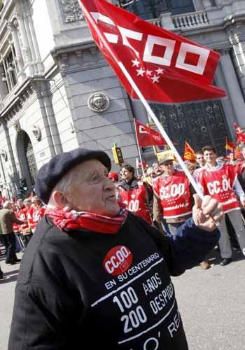 Imagen de la manifestación en Madrid. FOTO: EFE