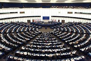 Imagen de la cámara del Parlamento Europeo en Estrasburgo.