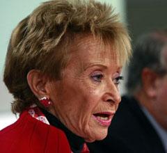 La vicepresidenta Maria Teresa Fernández de la Vega