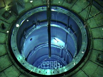 Imagen de archivo del interior de la vasija del reactor en la central nuclear de Santa María de Garoña