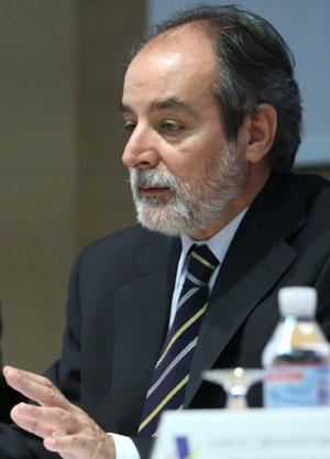 El director general de la Administración Tributaria, Luis Pedroche