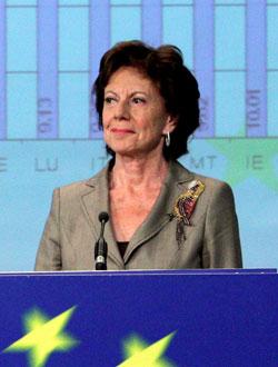 Neelie Kroes, comisaria europea de Competencia