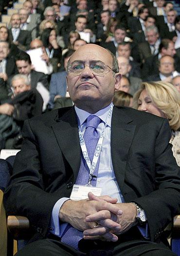Díaz Ferrán, durante la Asamblea Electoral de la CEOE en marzo de este año. EFE/JuanJo Martín