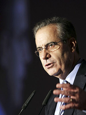 El ministro de Trabajo e Inmigración, Celestino Corbacho, este martes en Navarra. EFE/Iván Aguinaga
