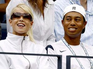 Tiger Woods y su esposa, Elin Nordegren