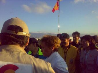 María Teresa de la Vega a su llegada a Puerto Príncipe