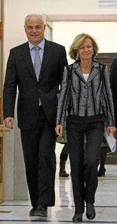 Campa y Salgado, en el Congreso el pasado mes de diciembre   Foto Efe