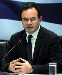 El ministro de Finanzas griego, Giorgios Papaconstantinos