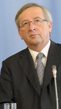El primer ministro luxemburgués y presidente del Eurogrupo, Jean-Claude Juncker