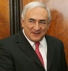 Dominique Strauss-Kahn, director gerente del FMI