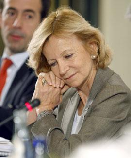 Elena Salgado, vicepresidenta ecnoómica del Gobierno