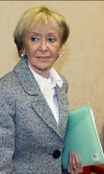 La vicepresidenta primera, María Teresa Fernández de la Vega.