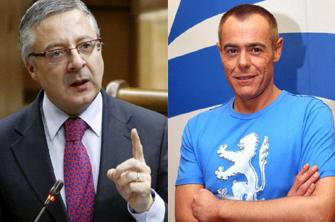 El ministro de Fomento, José Blanco, y el presentador, Jordi González, cara a cara mañana en 'La Noria'