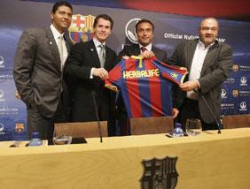 Herbalife ha sido presentado hoy como nuevo patrocinador del Barça | Foto EFE/Marta Pérez