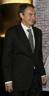 El presidente, José Luis Rodríguez Zapatero