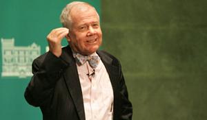 Rogers durante la ponencia que impartió en Madrid.