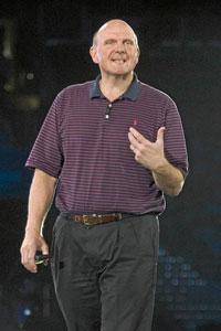 Steve Ballmer, durante la conferencia de socios de Microsoft, que ha reunido a 9.000 personas en Washington (Estados Unidos). / Bloomberg News