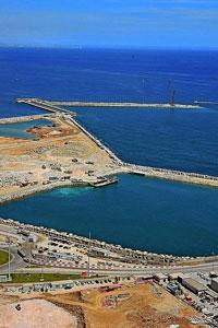 En la imagen, la ampliación del puerto de Valencia, la joya de la corona de Dragados SPL