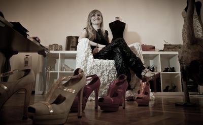 María Lafuente en su 'atelier' de la calle de Villanueva 42 de Madrid. REPORTAJE GRÁFICO: JM CADENAS