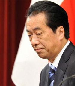 El primer ministro japonés, Naoto Kan, en una rueda de prensa en su despacho de Tokio (Japón), el 10 de agosto de 2010.