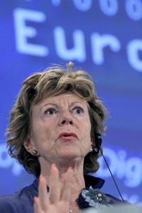 Neelie Kroes, comisaria europea de Agenda Digital
