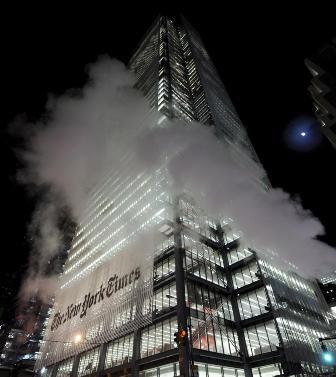 Vista del 8 de diciembre de 2008, del edificio sede del New York Times en Nueva York (EEUU).