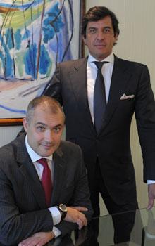 Alberto Prieto y Frédéric Mangeant, en la sede de Knight Frank, ayer