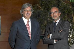 Emilio Cuatrecasas (presidente) y Rafael Fontana (socio director) de Cuatrecasas, Gonçalves Pereira.