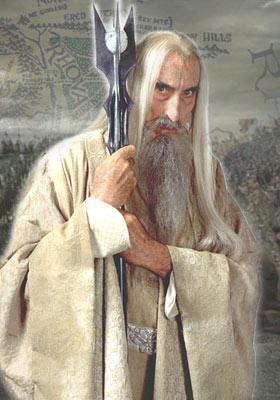 El actor Christopher Lee en el papel de Saruman