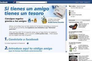 Imagen de la campaña de La Caixa en Facebook para captar clientes.