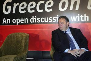 Evangelos Venizelos, ministro de Finanzas de Grecia