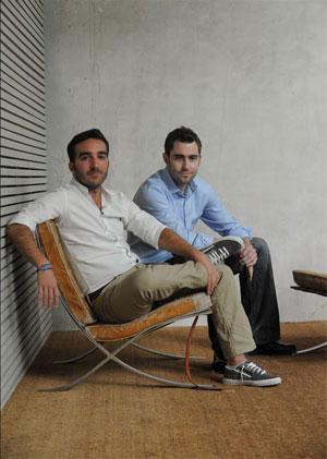 Francisco Polo, fundador de Actuable, y Ben Rattray, CEO de Change.org. | Foto: J. M. Cadenas