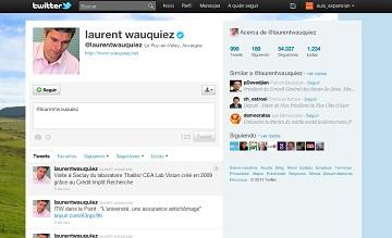 Con 53.000 followers, es uno de los políticos franceses más seguidos en Twitter.