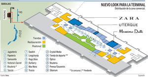 Mapa Aeropuerto Barajas T4.Zara Massimo Dutti Y Uterque Brillaran En La T4 De Barajas